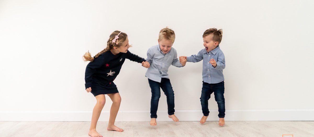 Fotoshoot neefjes en nichtjes